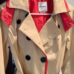 Bebe Trench Coat women's Medium